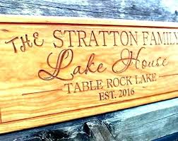 personalized house signs lake cabin