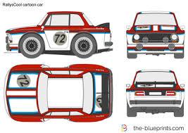Rallyscool Cartoon Car Vector Drawing
