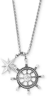 ship wheel and star pendant necklace