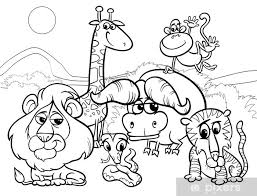 Sticker Wilde Dieren Cartoon Kleurplaat Pixers We Leven Om Te