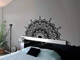 Amazon Com Half Mandala Wall Decal Vinyl Sticker Headboard Master Bedroom Boho Bohemian Decor Yoga Studio Namaste Ornament Mandala Decals Decor F130 Handmade