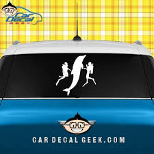 Scuba Divers With Dolphin Car Truck Decal Window Stickers