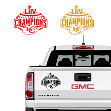Kc Kansas City Chiefs Super Bowl Liv Champions Decal Vinyl Sticker Chicocanvas