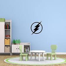 The Flash Superhero Symbol Icon Emblem Dc Comics Customvinyldecor Com Kids Wall Decals Superhero Symbols Home Decor