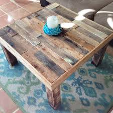 square reclaimed recycled wood pallet