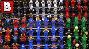 Every LEGO Ninjago Ninja Ever Made!!! Zane Jay Lloyd Kai Nya Cole ...