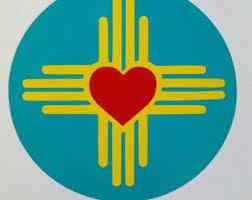 4 Zia Symbol Heart Vinyl Decal Etsy Symbolic Tattoos Mexico Tattoo New Mexico Tattoo