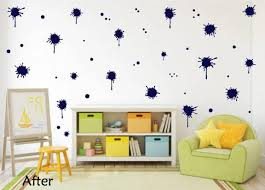 Navy Blue Paint Splatter Decal Paint Splat Wall Decal Whimsidecals