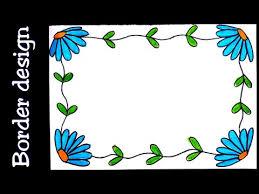 flower border designs simple border