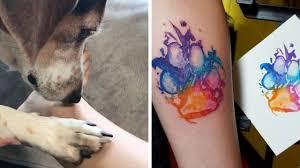 Odcisk Psiej Lapy Oryginalny Pomysl Na Tatuaz Dla Najwiekszych