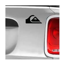 Amazon Com Quiksilver Black Sk8 Surf Snow Water Bike Brands Automotive Decal Bumper Sticker Automotive