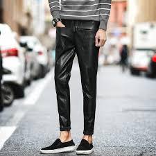 fashion designer men leather pants