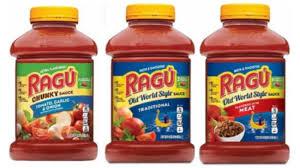 some ragú pasta sauces recalled because