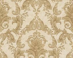 wallpaper baroque gold cream as