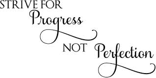 Strive For Progress Wall Decal Progress Not Perfection Etsy
