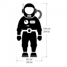 Space Astronaut Wall Decal For Aed Defibrillator Storage