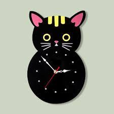 Creative Cartoon Acrylic Wall Clock Kids Room 3d Quartz Wall Watch Cute Cat Colorful Wall Clocks Unique Home Decor Wall Clock For Bathroom Wall Clock For Home From Home5 20 91 Dhgate Com
