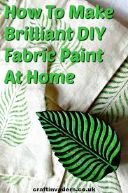 diy fabric paint at home craft invaders