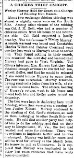 Wesley Murray chicken thief 1895 - Newspapers.com