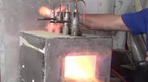 propane forge heat treat oven build for