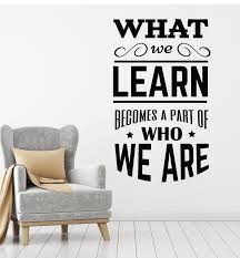 Vinyl Wall Decal School Classroom Quote Phrase Lettering Words Sticker Wallstickers4you