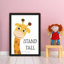 Stand Tall Poster Frame Wall Decor Kids Room Decor Baashah Decor