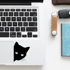 Funny Curious Black Cat Decal Laptop Trackpad Sticker For Macbook Pro Air Retina 11 12 13 15 Inch Mac Hp Notebook Touchpad Skin Shop The Nation