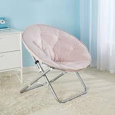 Urban Shop Micromink Saucer Chair Blush Hammock Town