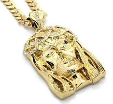 mens crowned large gold plated