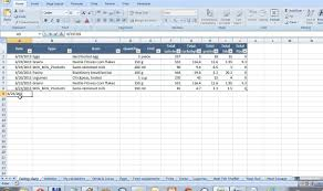 eating diary and calorie counter in excel