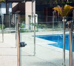 Semi Frameless Glass Pool Fence Design With Stainless Steel Post Glass Pool Fencing Glass Pool Diy Pool Fence