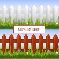 Free Vector Garden Fence Seamless Pattern Cartoon Illustration