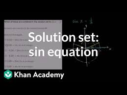solving sinusoidal equations of the