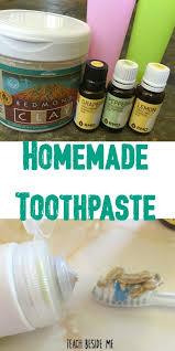 homemade toothpaste kid safe teach