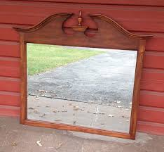 extra large wooden mirror vintage wood