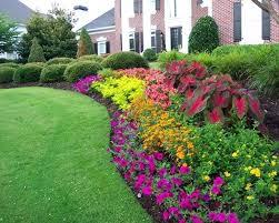 landscape patio flower bed design beds