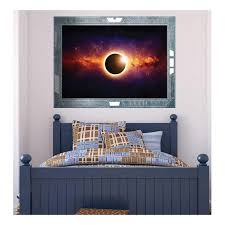 Wall26 Science Fiction Viewport Decal View Of An Eclipse Wall Mural Removable Sticker Home Decor 36x48 Inches Walmart Com Walmart Com