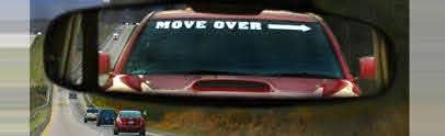 Move Over With Arrow Windshield Decal