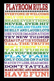 Playroom Rules Poster Rainbow Art Kid Decor Kid Print Etsy Playroom Rules Playroom Room Posters