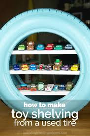 How To Make Toy Shelving From A Used Tire Toy Shelves Toy Car Storage Cars Room