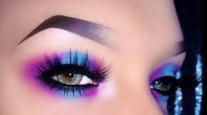 smoky colorful neon makeup tutorial