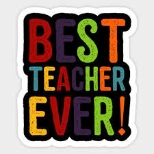 Best Teacher Ever Appreciation Day Decal Decor Car Bumper Laptop Vinyl Sticker 4 99 Picclick