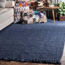 nuloom area rug jute navy blue 3 x