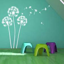 Wall Decal Large Flying Dandelion Plant Vinyl Wall Stickers Home Living Room Decor Kids Boys Room Removable Wall Art Mural Ay015 Wall Stickers Aliexpress