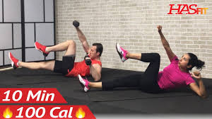 10 minute ab workout with dumbbells or