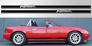 Mazda Miata Mx 5 Roadster Double Stripe Decal Stripe Garage