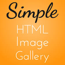 make a simple html image gallery for