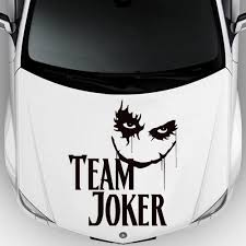 Amazon Com Car Decal Hood Sticker Vinyl Design Auto Moto Team Joker Playing Cards Comic Zombie M1517c Home Kitchen