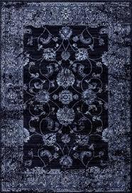 graphite navy blue vintage area rug