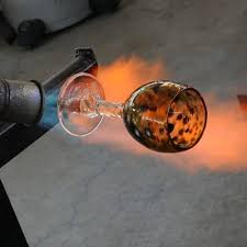 off hand glass blowing stone and glass
